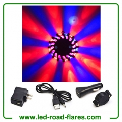 Duo Colours Red Blue Led Road Flares Rechargeable