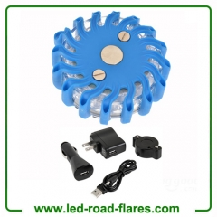 Rechargeable Led Road Flares Kits Blue