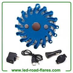 Single Pack Rechargeable Led Road Flares Kits Blue