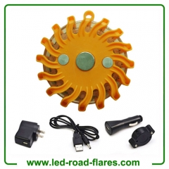 Amber Orange Led Flares Rechargeable