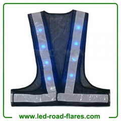 Led Navy Blue Reflective Safety Vest Navy Blue Led Safety Vests