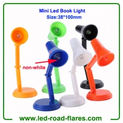 Green White Red Blue Black Orange Mini Led Book Light Clip Mini Led Book Lamp