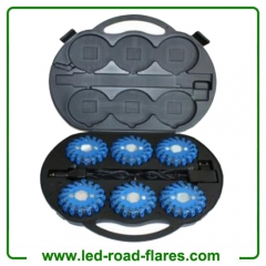 6 Packs Rechargeable Led Road Flares Blue