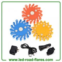 LED Guardian Emergency Safety Road Flares Light Rechargeable Super Led Emergency Road Flares Red Yellow Blue