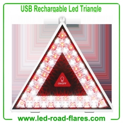 China Led Traffic Warning Triangles Manufacturers USB Rechargeable Flashing Led Warning Triangles