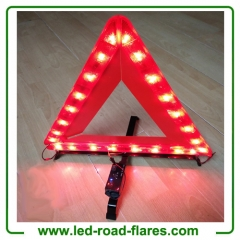 USB Rechargeable Auto Flashing Led Safety Warning Emergency Triangles