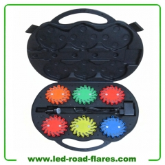 6-Pack Rechargeable Traffic Warning Lights Emergency Led Road Flares Flashing Led Strobe Lights Safety Beacon