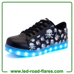 Wholesale Lace Up Skull led Light Shoes Skeleton Led Sneakers Casual for Men