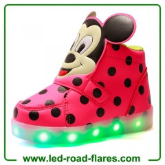 High Top Mickey Mouse Led Light Up Kids Shoes China Children Led Shoes Suppliers Manufacturer Factory