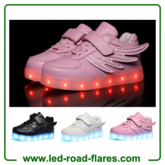 China Led Flashing Blinking Glowing Led Lights Up Shoes Kids With Angel Wings Suppliers Factory and Manufacturers