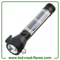 Aluminum Alloy Car Auto Escape Safety Hammer With Solar Flashlight and USB Port Mobile Power Supply
