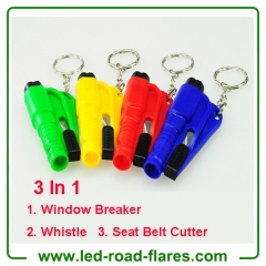 Emergency Hammer And Seatbelt Cutter Window Breaker Keychain Emergency Car Hammer