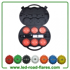 Rechargeable Led Road Flares 6 Pack Red