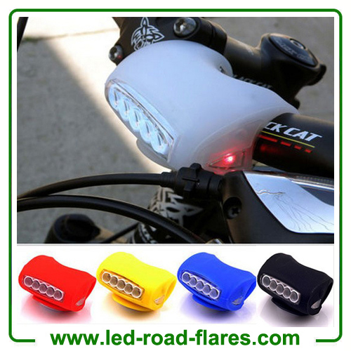 7 Led Silicone Bicycle Lights Bike Tail Rear Front Headlight​s