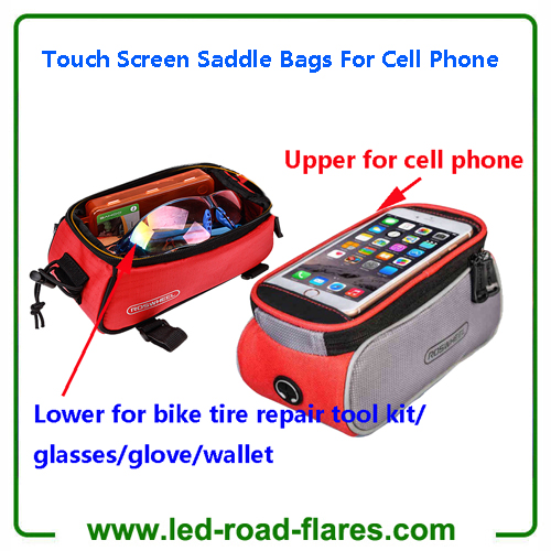 Mountain Road Bicycle Bike Bags Touch Screen Cycling Top Front Tube Frame Saddle Bags For Cell Phone