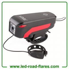 LED Speaker Bicycle Bike Lights Headlights Micro USB Rechargeable Bike Lights With High DB Horn