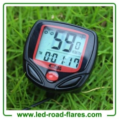 Bicycle Bike Computer Cycling Odometer Speedometer With Back Light Waterproof
