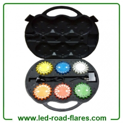 6 Pack Led Rechargeable Road Flares Strobe Lights