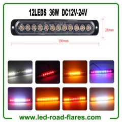 Led Light Bar 36W 18W 12W 12 Led Work Light Bar 6 Led Driving Lights Fog Offroad Lamp For Vehicles, ATV, Truck SUV