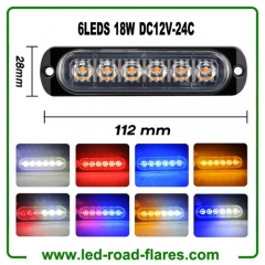 6LED 18W LED Work Light Bar Flood Light Offroad 4WD BOAT ATV UTV FOG DRIVING