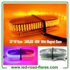 240 LED Amber/Yellow Roof Top LED Emergency Strobe Lights Mini Bar for Cars Trucks Snow Plow Vehicles Warning Caution Lights with Magnetic Base