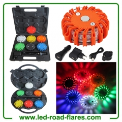 6 Pack Red Led Safety Flares Rechargeable Led Road Flares Kits