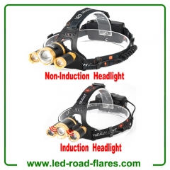 Long Range Zoomable Rechargeable Headlamp Led Headlight Flashlight Head Flashlight Tactical Headlamp Hard Hat Light Waterproof Led Head Lamp
