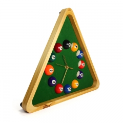 decorative wooden pool table clock