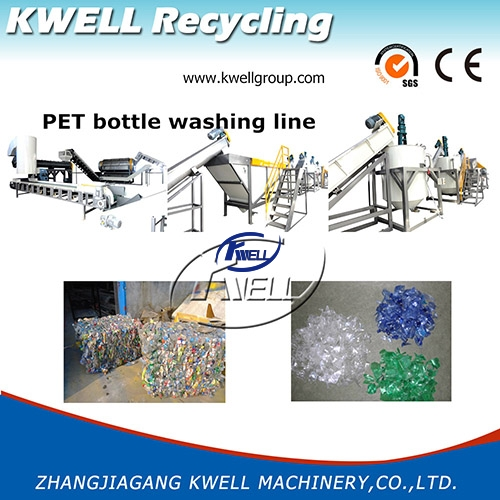 Fiber grade PET bottle recycling machine