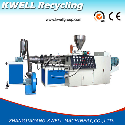 China cheap PVC powder hot cutting air cooling granulating pelletizing line