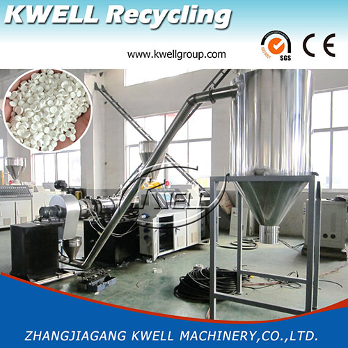 China PVC hot die face cutting granulating pelletizing recycling machine line