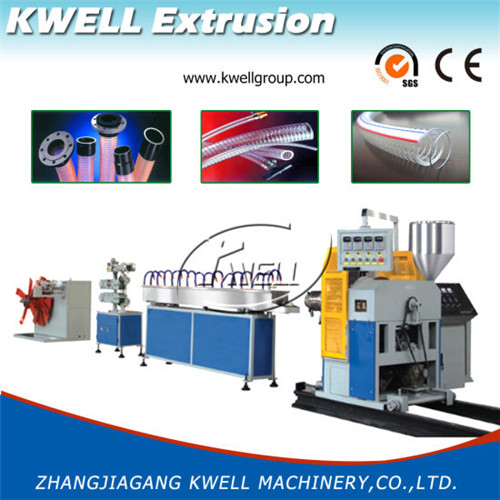 plastic flexible steel wired hose extrusion machine