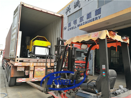 Machine delivery shipping loading for PVC steel wire reinforced hose tube production extrusion line machine