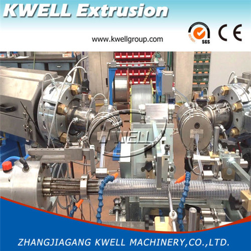 Double cavities Output PVC Spiral Helix Suction Hose extrusion Machine Kwell Group