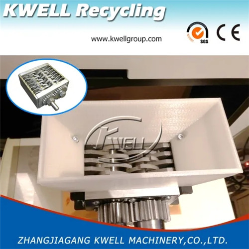 Yoghurt cup milk bottle cell phone waste hard plastic recycling mini small shredder GL200 2.2kw single phase power Kwell Group