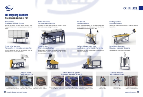 PET Bottle Recycling Auxiliary Equipment/ Equipo de reciclaje de botellas de PET
