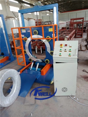 PE PP PVC flexible corrugated hose pipe coil wrapping packing machine Kwell