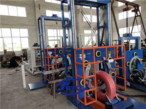 Vertical type soft flexible hose pipe coil wrapping packing machine Kwell
