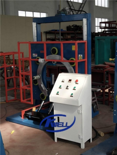 PVC fiber reinforced garden soft flexible hose coil wrapping packing machine Kwell