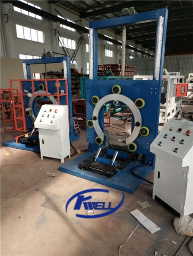 Plastic soft flexible hose pipe coil wrapping packing machine Kwell