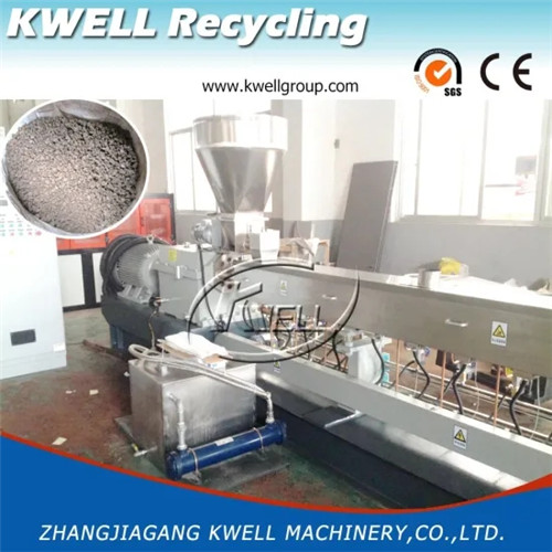 Corotating WPC twin screw pelletizing granulator making machine Kwell