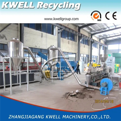 PE PP wood powder WPC twin screw extruder pelletizing line Kwell China