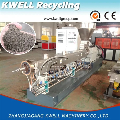 Wood powder plastic recycling pellet granule making machine extruder Kwell China