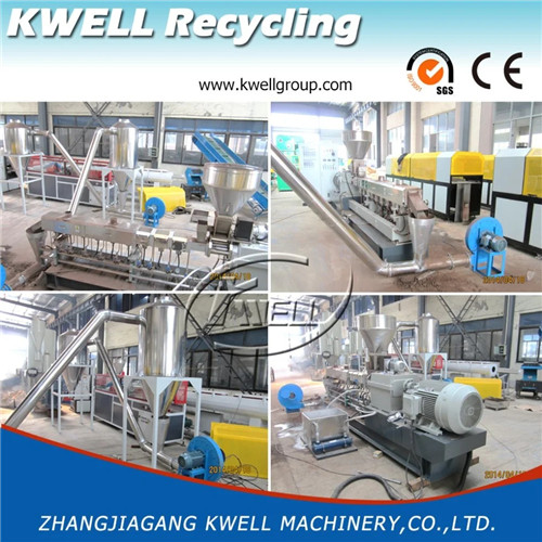 WPC parallel twin screw corotating extruder recycling machine Kwell Group