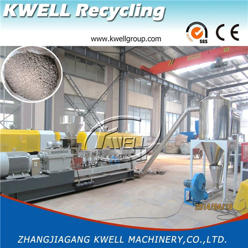 150kgh wood powder plastic pellet granule recycling granulating granulator extruder machine Kwell