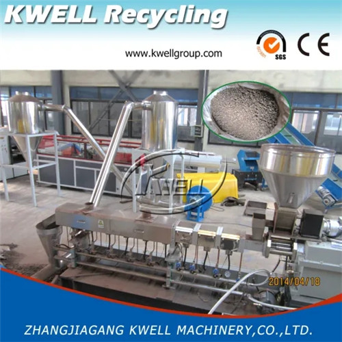 52 WPC pelletizing line parallel twin screw extruder Kwell