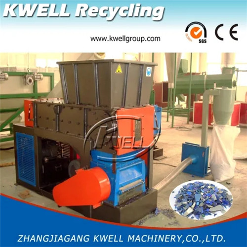 Waste HDPE PP block lump shredder crusher grinder combined machine Kwell