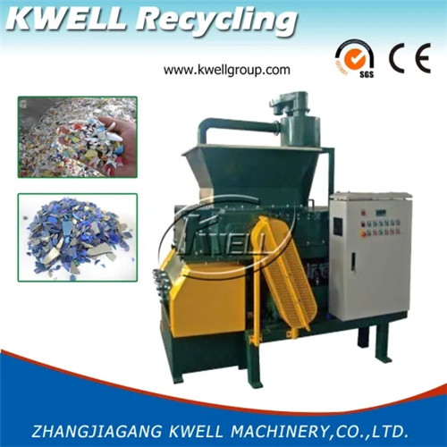 Hard plastic lump shredder granulator combined machine Kwell