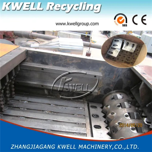 Single one rotor shaft rigid plastic lump recycling shredder crusher machine Kwell