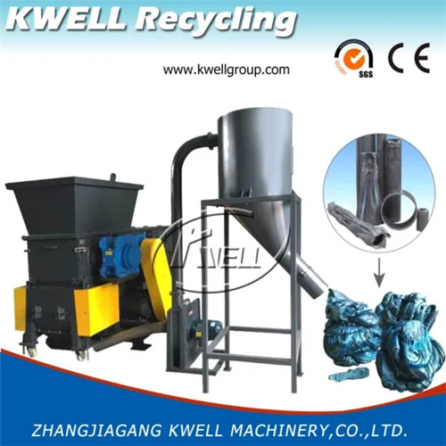 HDPE hard lump block shredder with granulator grinder Kwell China